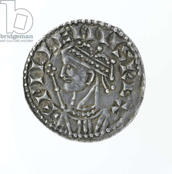 Obverse of a penny, from the reign of William I (silver)