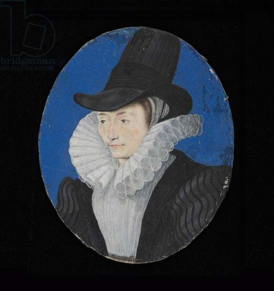 Portrait miniature of an unknown lady, c.1590 (w/c on vellum)