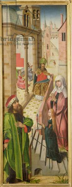 The Presentation of the Virgin, left panel of triptych, late 15th-early 16th century (see also 69683 and 69685)