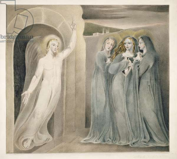 The Three Marys at the Sepulchre, c.1800 (pen & ink with wash and w/c on paper)