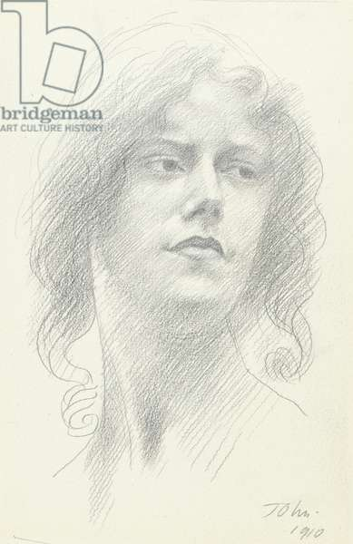 Study of a woman's head, 1910 (graphite on paper)