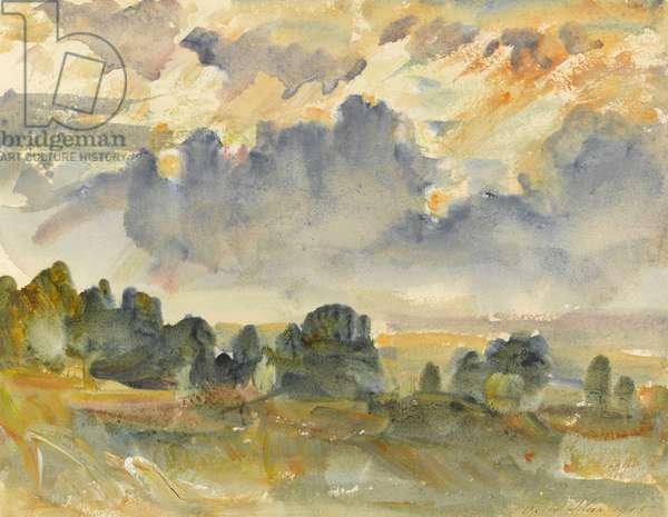 Sunset, 1915 (w/c on paper)