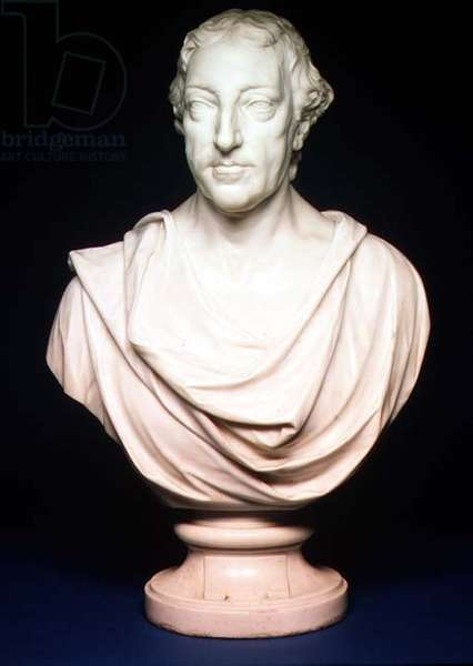 M.65-1937 William Pitt, 1st Earl of Chatham (1708-78) bust by Joseph Wilton (1722-1803) 1766 (marble)