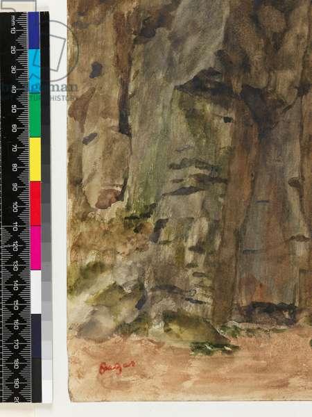 Rocks at Bagnoles-De-L'Orne, before 1917 (w/c & oils on paper)