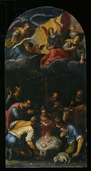The Adoration of the Shepherds, c.1600-10 (oil on copper)