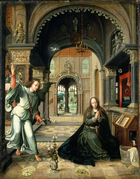The Annunciation, early 16th century (oil on panel)