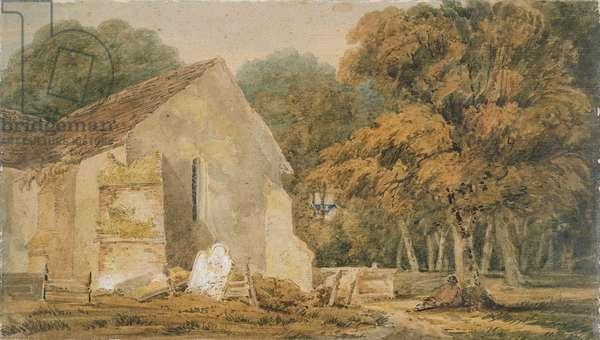 No.0735 A Country Churchyard, c.1797-98 (w/c)