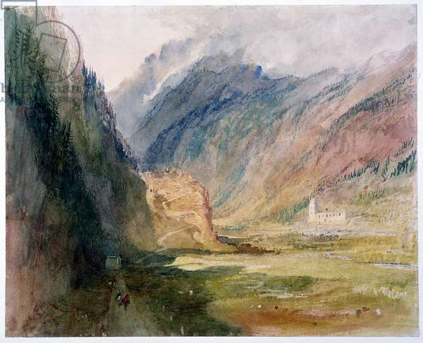 Couvent du Bonhomme, Chamonix, c.1836-42 (w/c with scratching out on paper)