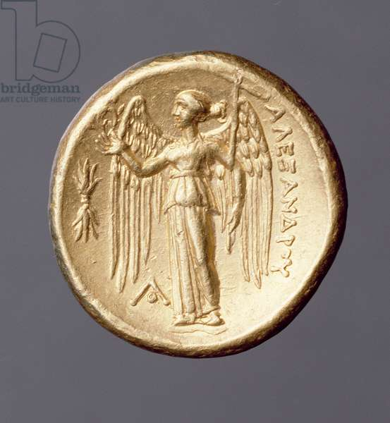 Gold double stater, Alexander the Great coinage of Sicyon, c.323 BC (reverse)