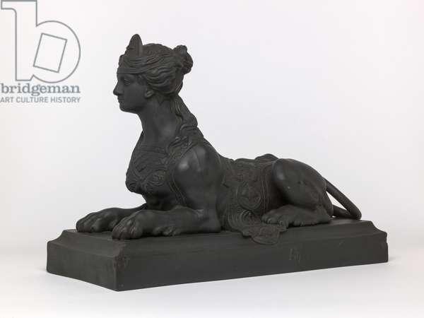 Grecian Sphinx, 1780-1900 (moulded black basalt)