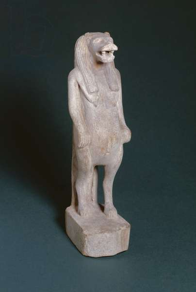 Statuette of Taweret, goddess of marriage and child-rearing, 2nd-1st century BC (wood)