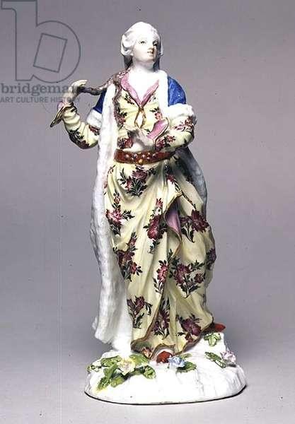 C.41-1950 Sultana Asseki, porcelain figure, modelled by Johann Joachim Kandler (1706-75), Meissen, c.1750 (porcelain)
