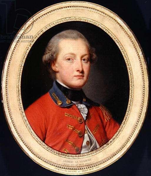 Portrait of George Augustus Herbert, c.1780 (oil on canvas)