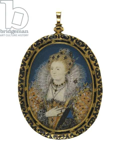 Queen Elizabeth I, c.1595-1600 (gouache on vellum on card)