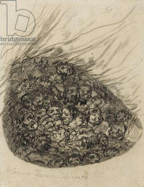 Comico Descubrimiento, 1819-28 (black chalk on paper)