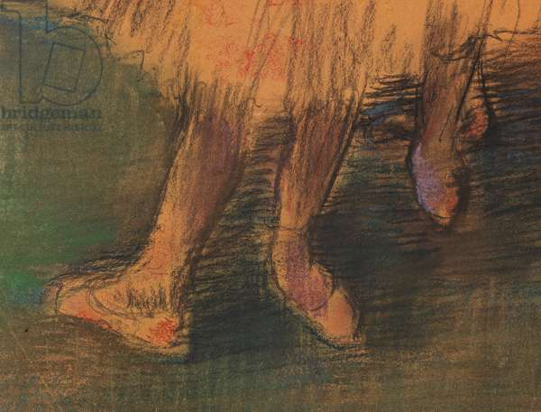 Dancers in the wing (detail), c.1900-05 (black chalk and pastel on paper)