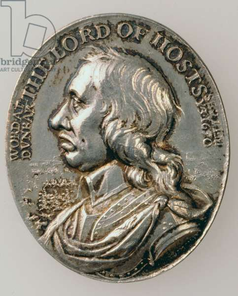 Dunbar Medal depicting Oliver Cromwell (1599-1658) 1650 (obverse) (silver) (for reverse see 168066)