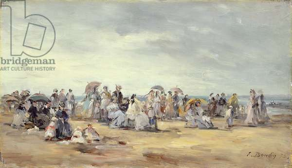 The Beach at Trouville, 1873 (oil on canvas)