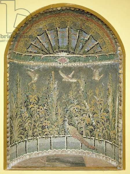Roman Mosaic Fountain Niche, c1st AD (mosaic)