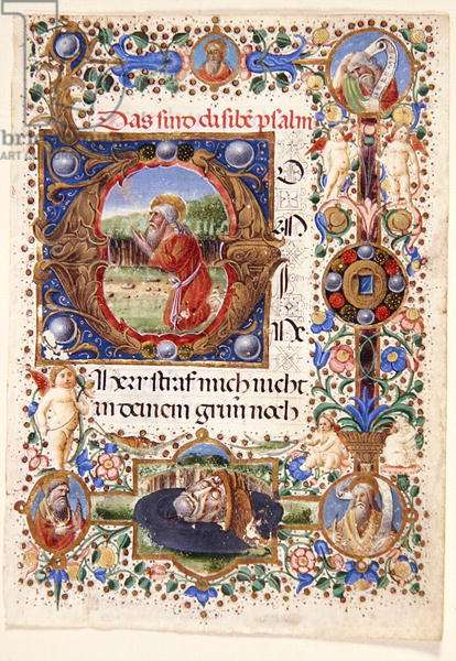 Ms. 11-2001: Single leaf from a Florentine Book of Hours, late 15th century (vellum)
