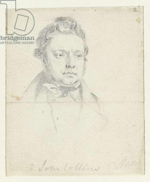 Sketch of Chartist Prisoner, John Collins, taken in court (graphite on paper)