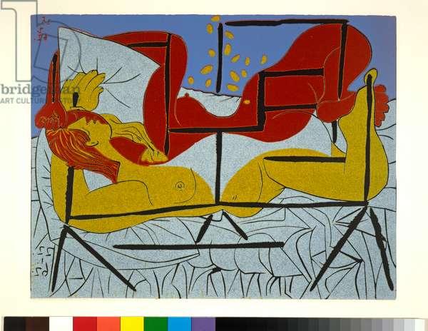 Danaé, 1962 (linocut, printed in five colours)