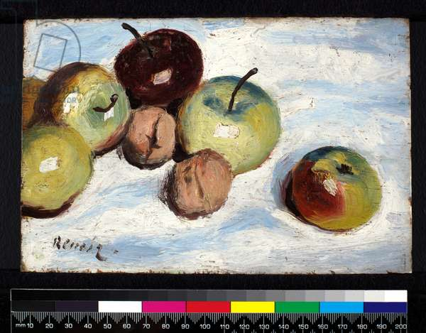 Still Life with Apples and Walnuts, c.1865-70 (oil on panel)