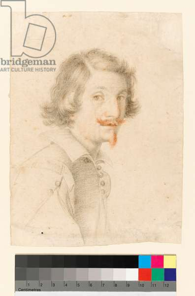 Portrait of the artist, before 1686 (black and red chalk on paper)