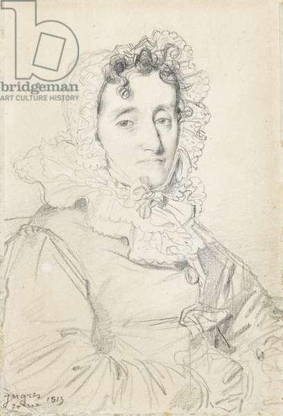 Portrait of Maréchale Kutusov, 1815 (graphite on paper)