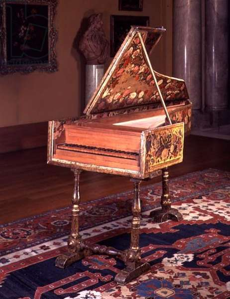 M.1-1933 Harpsichord, probably made or rebuilt in Florence, Italian, 17th century