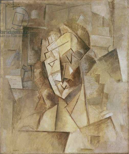 Cubist Head (portrait of Fernande) c.1909/10 (oil on canvas)