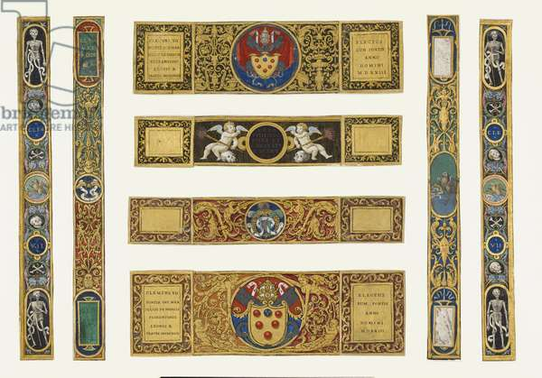 Marlay Cutting Italian 33: Eight strips of border taken from a missal of Pope Clement VII, after 1523 (parchment)