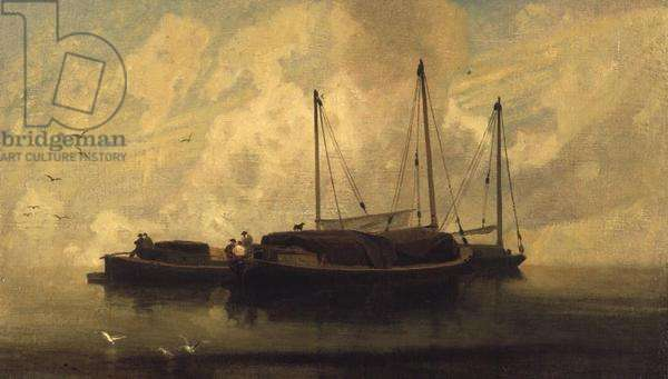 Boats at Anchor on Breydon Water, c.1810 (oil on canvas)