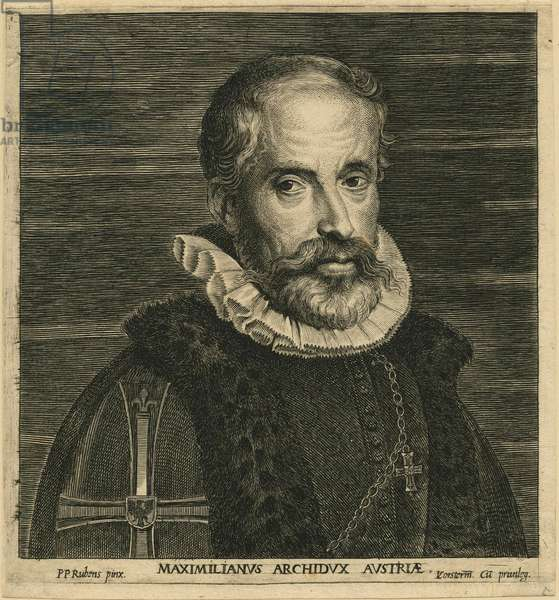 Maximilian II, Archduke of Austria, after Rubens (engraving)