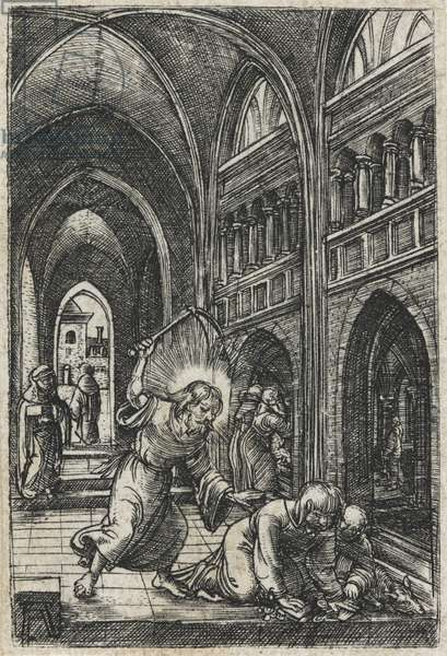 Christ expelling the moneychangers from the temple, c.1519 (engraving)