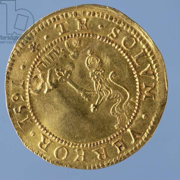 4-pounds Scots (hat-piece) of James I, Edinburgh mint, 1591 (reverse) (gold) (for obverse see 58855)
