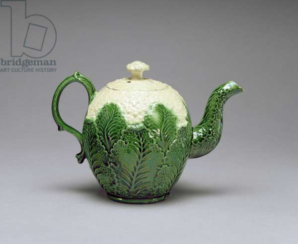 Cauliflower Teapot, from Burlem, Staffordshire, c.1759-66 (lead glazed cream earthenware, slip-cast)