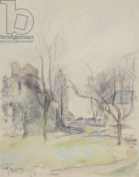 Gisors, c.1884 (w/c over black chalk on paper)