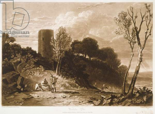 F.42.I Winchelsea, Sussex, from the 'Liber Studiorum', engraved by J.C. Easling, 1812 (etching)