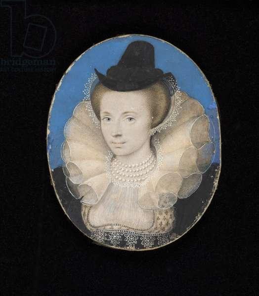Unknown lady, c.1595-1600 (w/c on vellum laid on card)