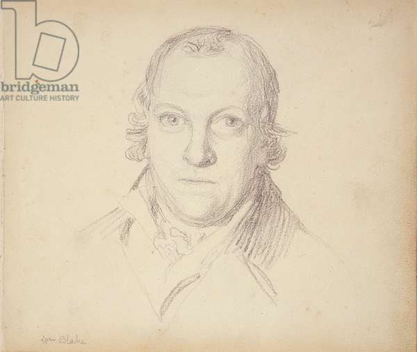 Portrait of William Blake (1757-1827) from a book of pencil portraits, c.1801 (pencil on paper)