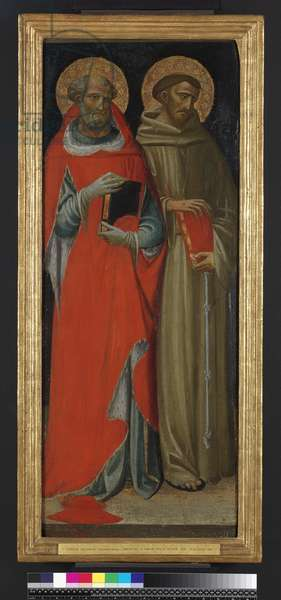 St Jerome and St Francis (tempera & gold on panel)