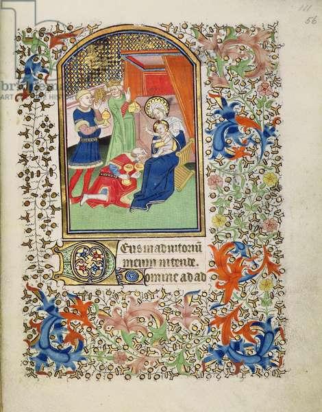 MS.69.f56 Adoration of the Magi, French Horae, c.1460-1470 (vellum)