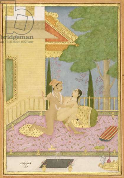 The private pleasure of Maharaja Anup Singh of Bikaner by the artist Rashid, Bikaner, Rajasthan, Rajput School, c.1678-98 (gouache on paper)
