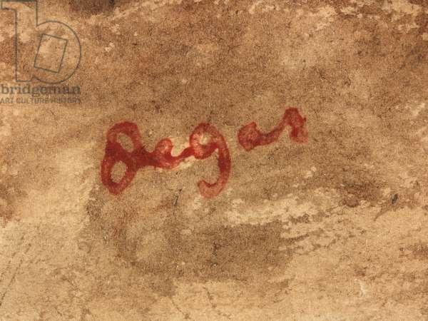 Rocks at Bagnoles-De-L'Orne (detail), c.1867 (w/c, brown ink & graphite with gum arabic on paper)