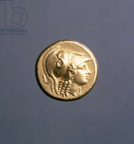 Gold Stater, Alexander the Great coinage of Sicyon, c.323 BC (obverse)
