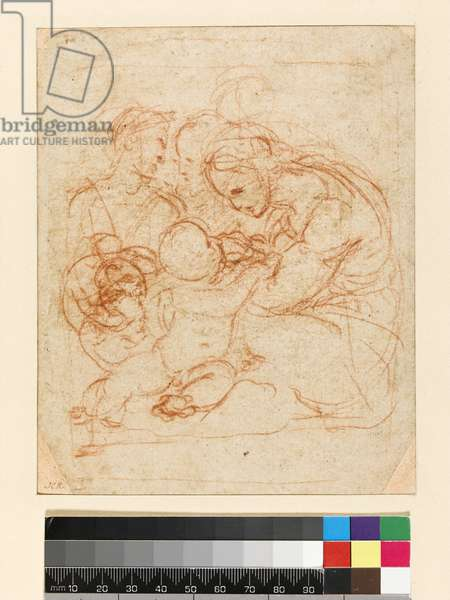 The Holy Family, c.1510-12 (chalk on paper)