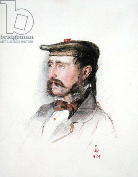 Portrait of William Monteith, 1854 (w/c with white over pencil on paper)