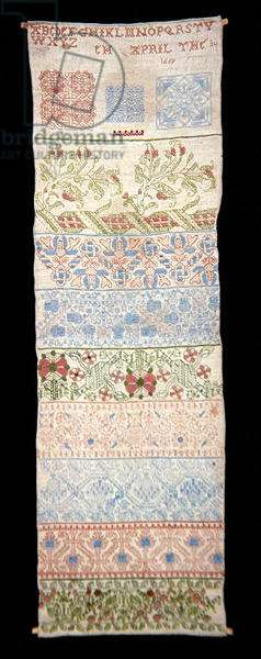 Linen Band Sampler, 1669 (embroidery)