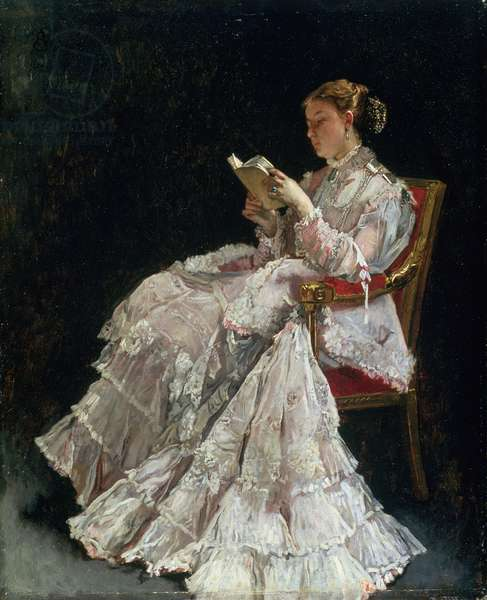 The Reader, c.1860 (oil on canvas)